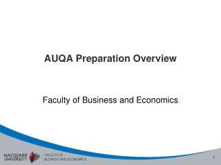 AUQA Preparation Overview