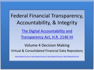 Federal Financial Transparency, Accountability, & Integrity