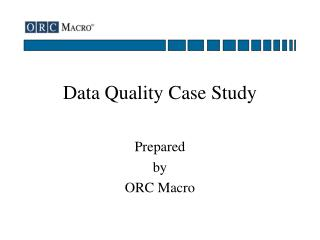 Data Quality Case Study