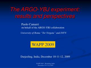 The ARGO-YBJ experiment: results and perspectives