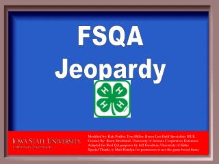 FSQA Jeopardy