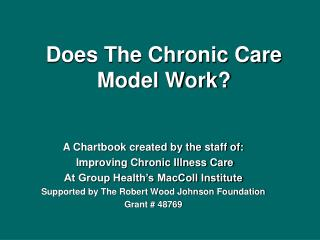 Does The Chronic Care Model Work?