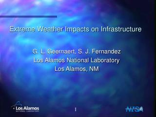 Extreme Weather Impacts on Infrastructure