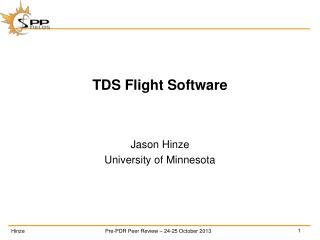 TDS  Flight Software