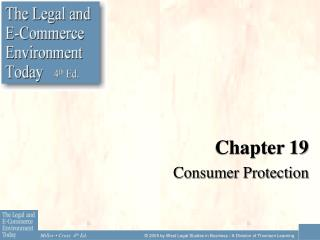 Chapter 19 Consumer Protection