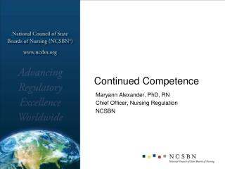 Continued Competence