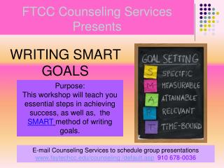 FTCC Counseling Services Presents