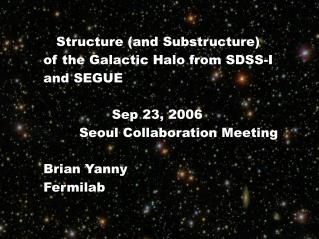 Structure (and Substructure) of the Galactic Halo from SDSS-I and SEGUE