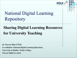 National Digital Learning Repository