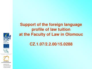 Support of the foreign language
