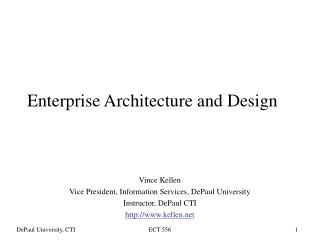Enterprise Architecture and Design