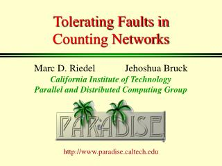 Tolerating Faults in  Counting Networks