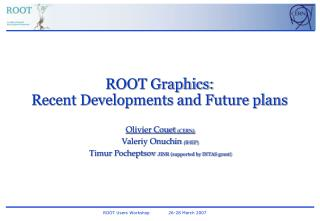ROOT Graphics:  Recent Developments and Future plans