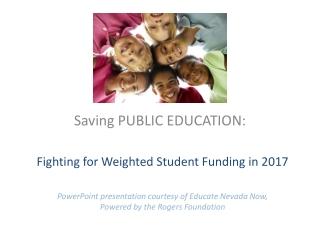 Saving PUBLIC EDUCATION: