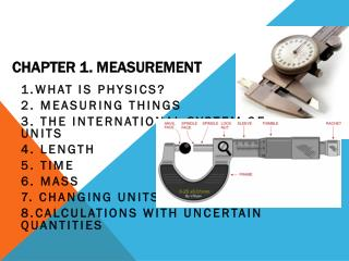 Chapter 1. Measurement
