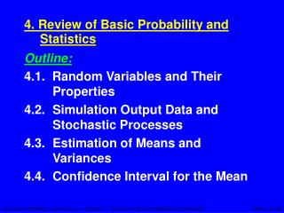 4. Review of Basic Probability and Statistics