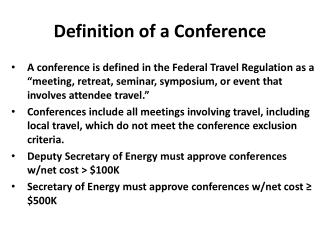 Definition of a Conference