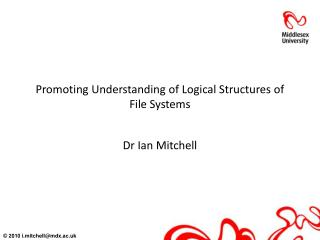 Promoting Understanding of Logical Structures of File Systems