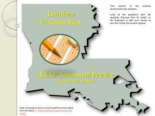 Louisiana 3 rd Grade ELA