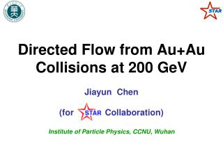 Directed Flow from Au+Au Collisions at 200 GeV