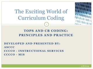 The Exciting World of Curriculum Coding