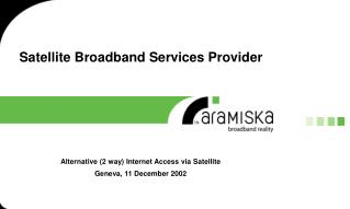 Satellite Broadband Services Provider