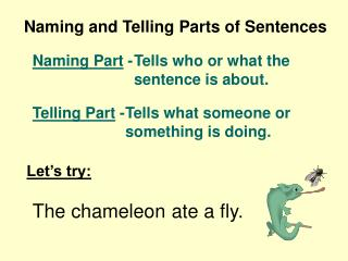 Naming and Telling Parts of Sentences
