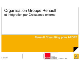 Renault Consulting pour AFOPE