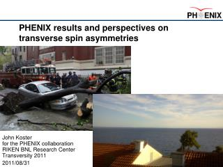 PHENIX results and perspectives on transverse spin asymmetries