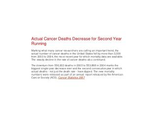 Colon cancer is the second  leading cause of cancer deaths in the U.S.