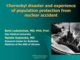 Chernobyl disaster and experience of population protection from nuclear accident