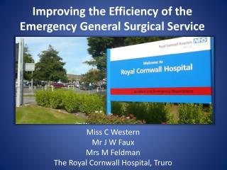 Improving the Efficiency of the Emergency General Surgical Service