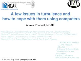 A few issues in turbulence and  how to cope with them using computers