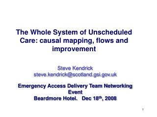The Whole System of Unscheduled Care: causal mapping, flows and improvement
