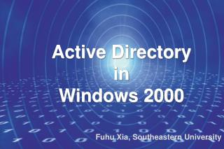 Active Directory in Windows 2000