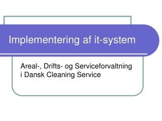 Implementering af it-system