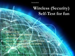 Wireless (Security)        Self-Test for fun