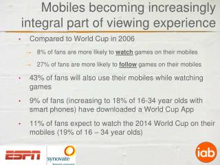 Mobiles becoming increasingly integral part of viewing experience