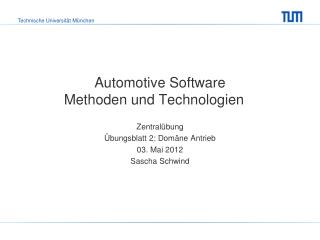 Automotive Software Methoden und Technologien