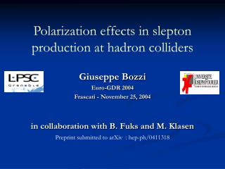 Polarization effects in slepton production at hadron colliders