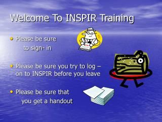 Welcome To INSPIR Training