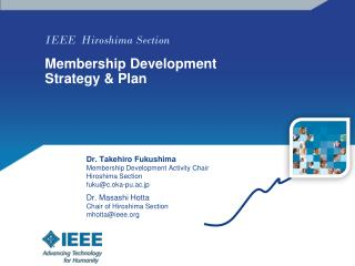 IEEE  Hiroshima Section  Membership Development Strategy & Plan