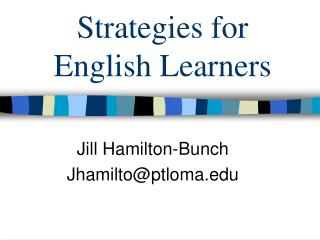 Strategies for English Learners