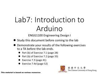 Lab7: Introduction to Arduino