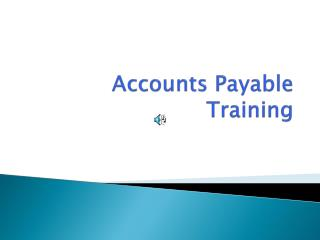 Accounts Payable Training