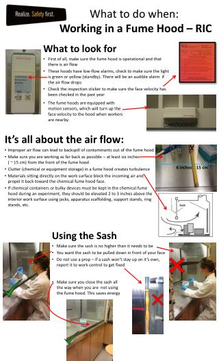 What to do when: Working in a Fume Hood – RIC