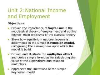 Unit 2:National Income and Employment