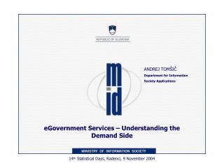 e Government S ervices –  Understanding the Demand Side