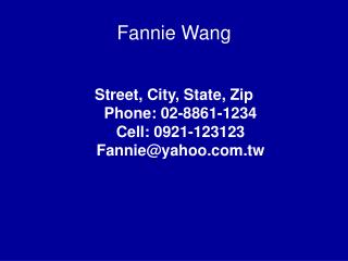 Fannie Wang