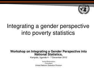 Integrating a gender perspective into poverty statistics